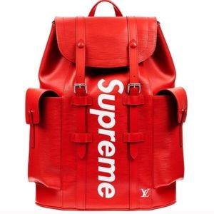 Louis Vuitton Red Supreme Backpack